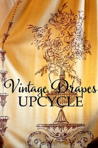 Vintage Drapes Upcycle and a Thrifty Valance Idea