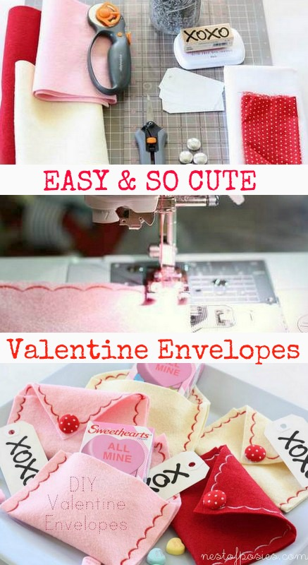 DIY Valentine Envelopes