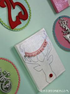 Deer Head with Antlers Free Printable & a peek at my Christmas Gallery Wall
