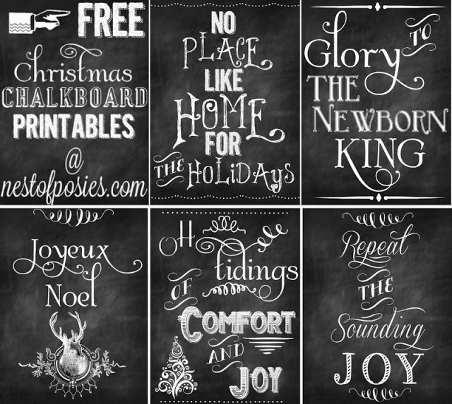 Home Design Ideas Blackboard: 5 Free Christmas Chalkboard Printables To Deck Your Halls