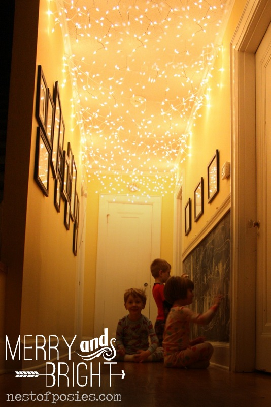 All Things Merry Bright Add Twinkle Lights To Your Hallway - Twinkle lights on bedroom ceiling