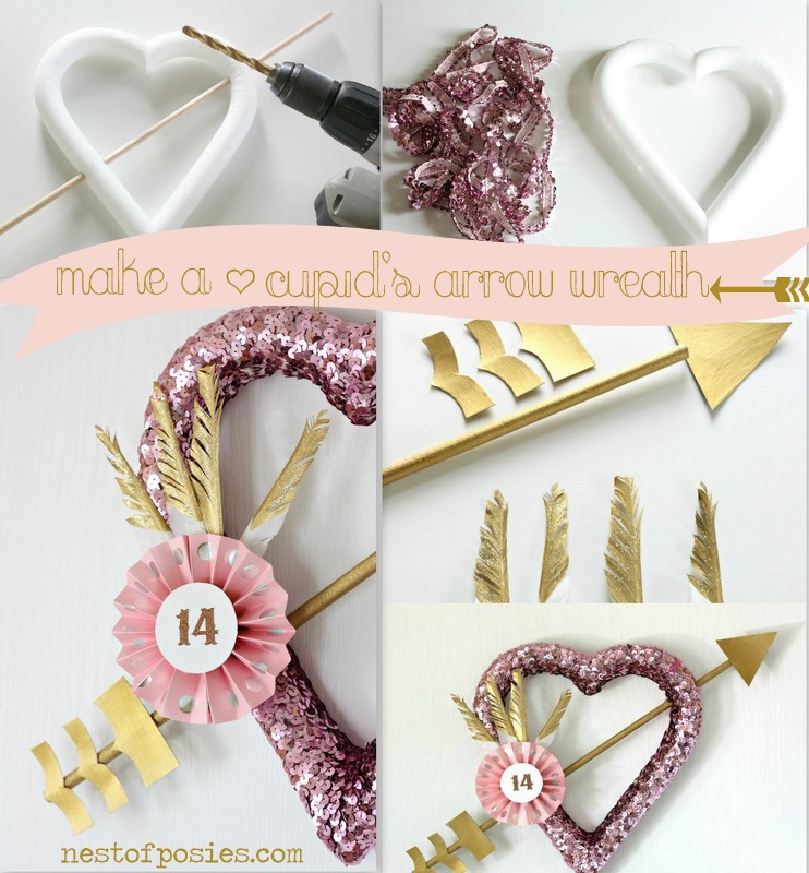 Make a Cupid's Arrow Wreath via Nest of Posies