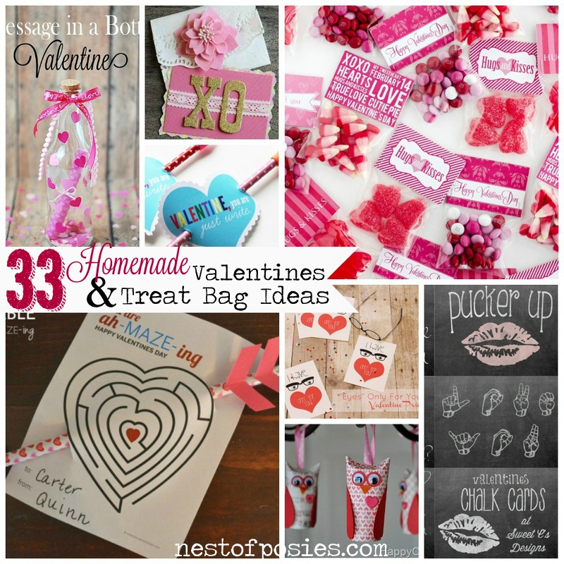 Ideas For Valentines Cards To Make Part - 49: 33 Homemade Valentine Cards U0026 Treat Bag Ideas Via Nest Of Posies