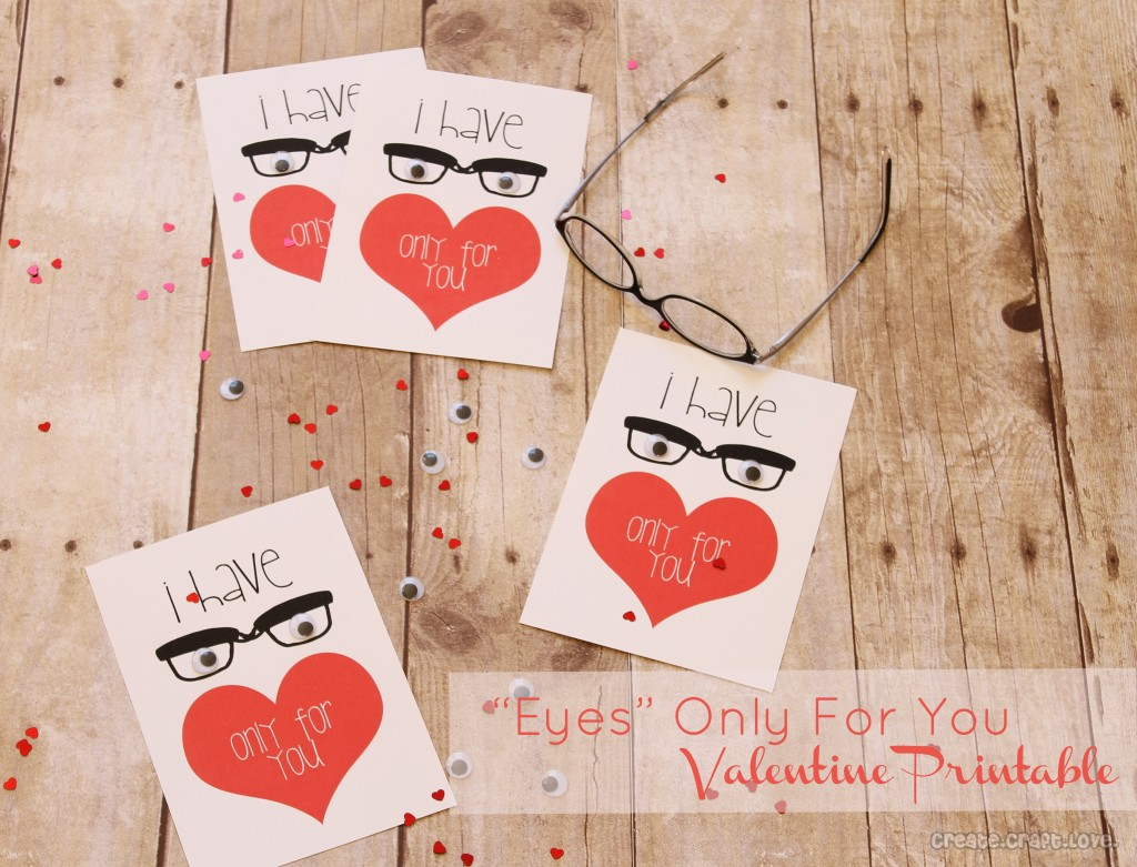 Eyes Only for You Valentines