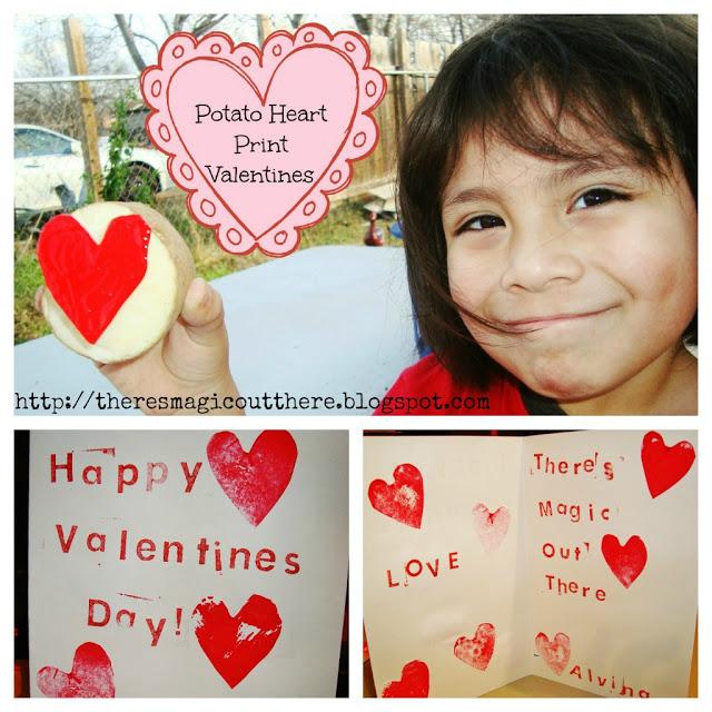 Potato Heart Valentines