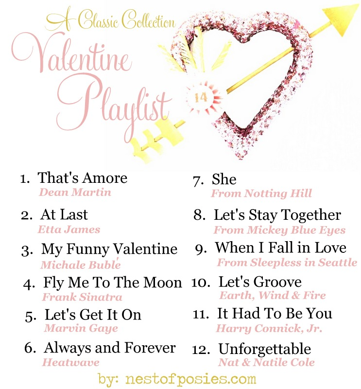 a Valentine Playlist via Nest of Posies