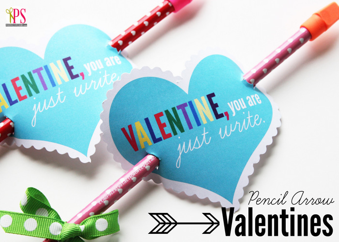 Pencil Arrow Valentines