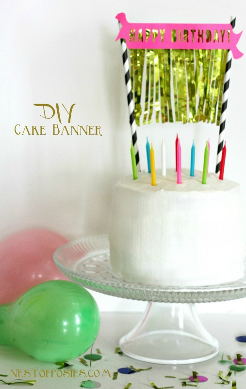 Birthday Cake Banner With Fringe A Free Silhouette Download Nest