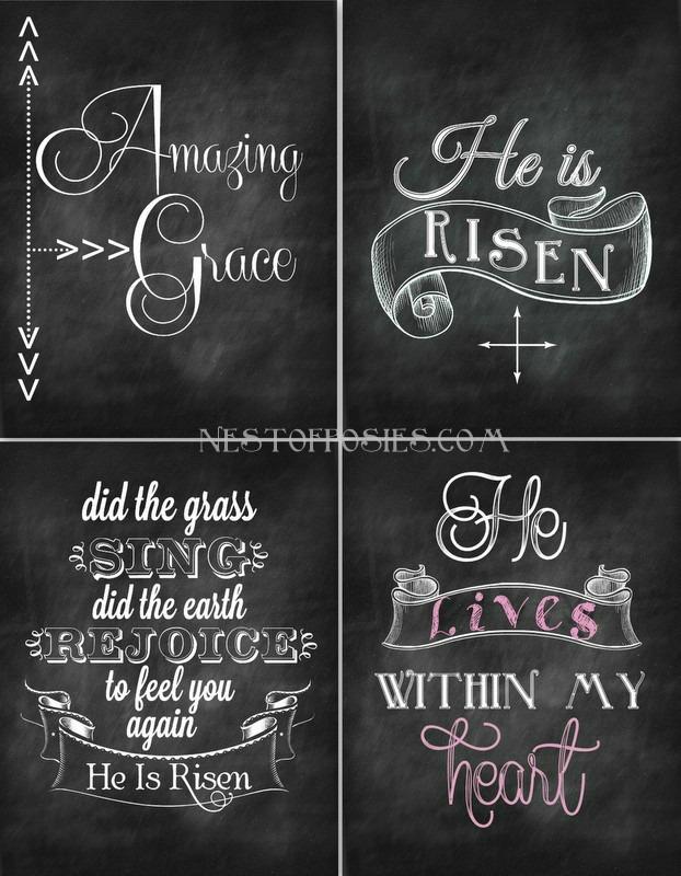 Easter #Chalkboard Printables via Nest of Posies