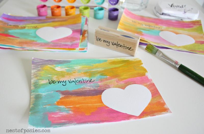 Gorgeous Watercolor Valentines via Nest of Posies