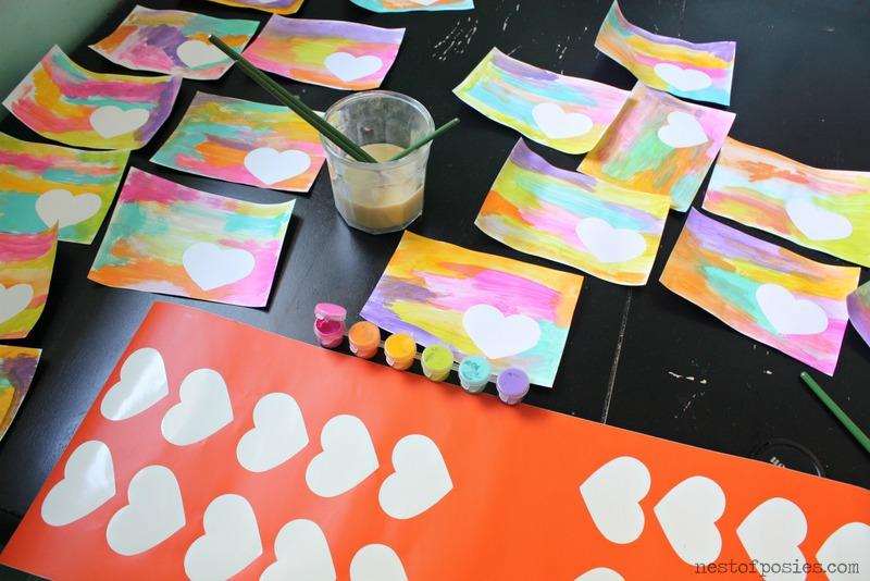 Watercolor Valentines & Stickers via Nest of Posies