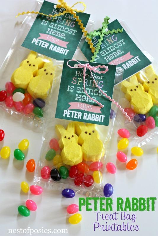 Peter Rabbit Easter Treat Bags & #Printable via @NestofPosies