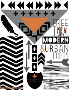 FREE Tribal, Modern & Urban Fonts + Digital Designs