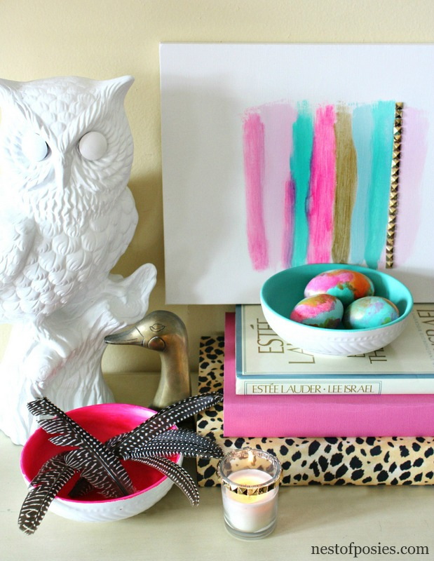 Painted Nesting Bowls from the Goodwill store & a ode to Duck Dynasty via @NestofPosies