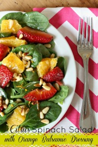 Citrus Spinach Salad with Orange Balsamic Dressing and a BIG GIVEAWAY!