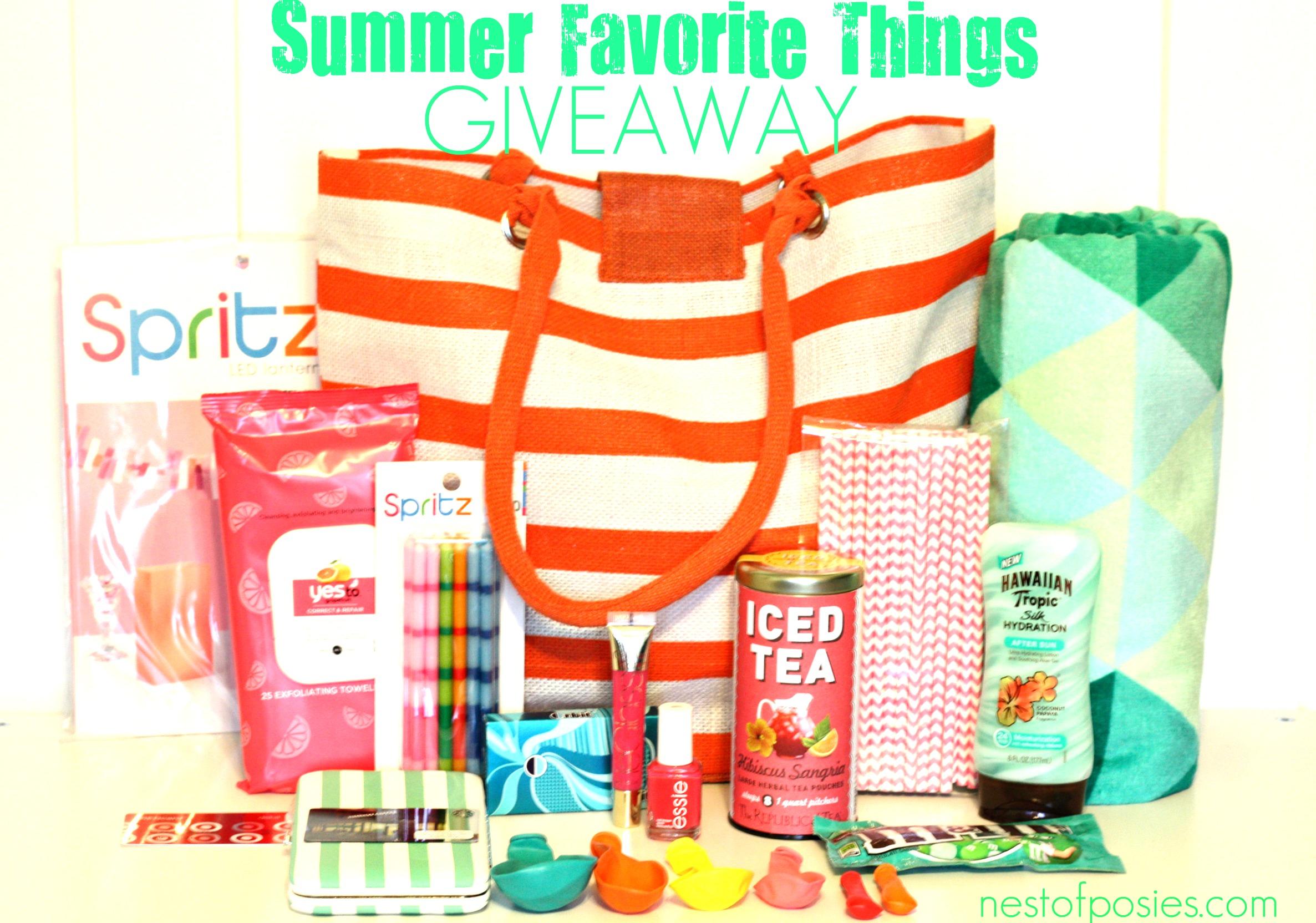 Summer Favorite Things Giveaway via Nest of Posies