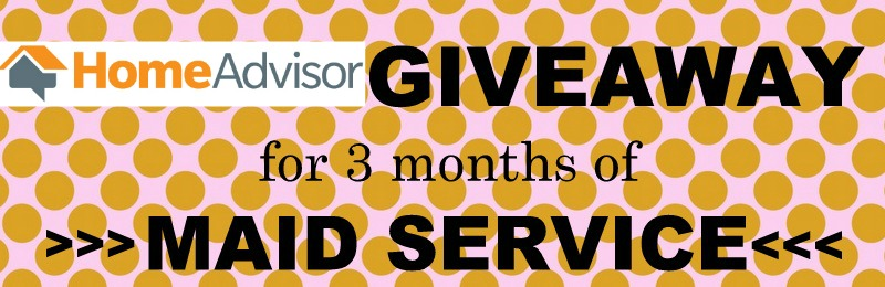 Giveaway for 3 months worth of maid service