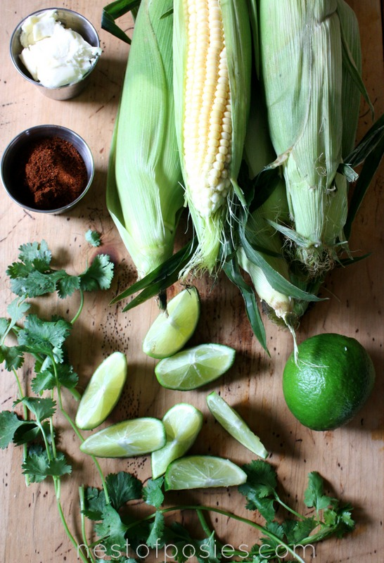 ingredients for Mexican Queso HOT Corn via Nest of Posies