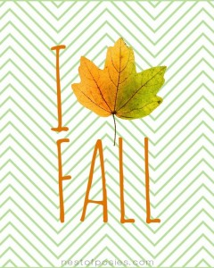 I Love Fall Leaf Printable