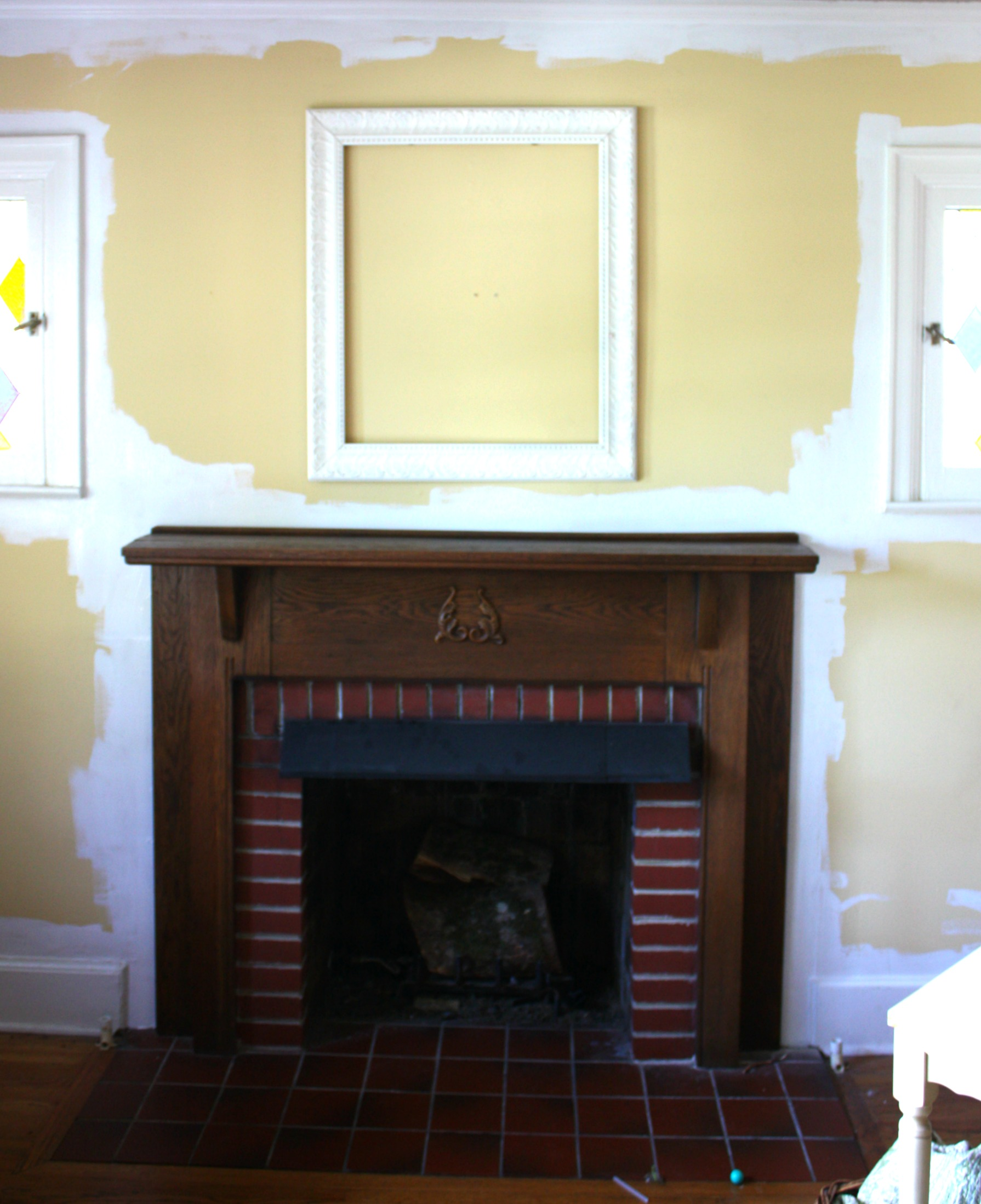 fireplace wall before