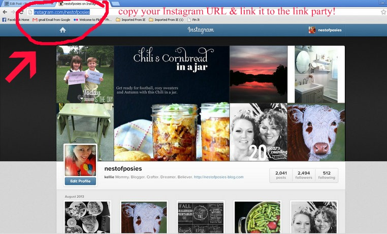 how to find out your instagram link