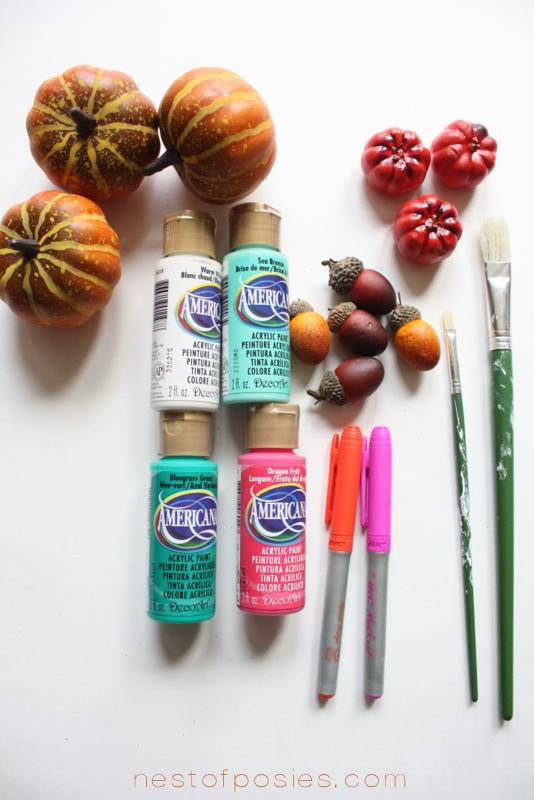 Supplies & Paint for the Pumpkin wreath