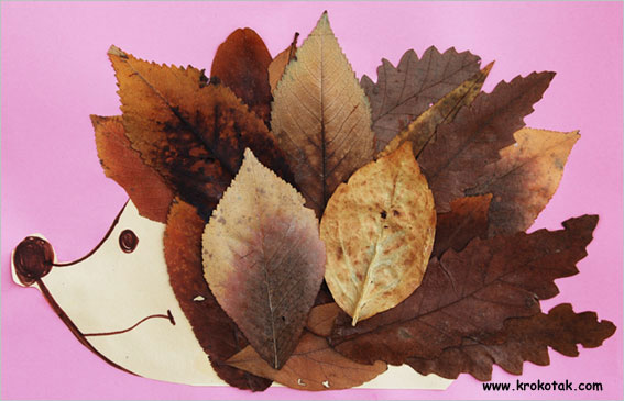 Kids Leaf craft idea make a Leaf Possum