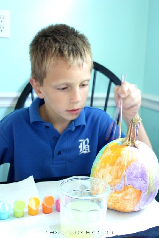 Fall Craft for Kids Paint Watercolor Pumpkins