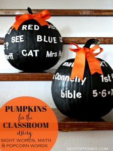 Make Pumpkins for the Classroom and for Your Teachers