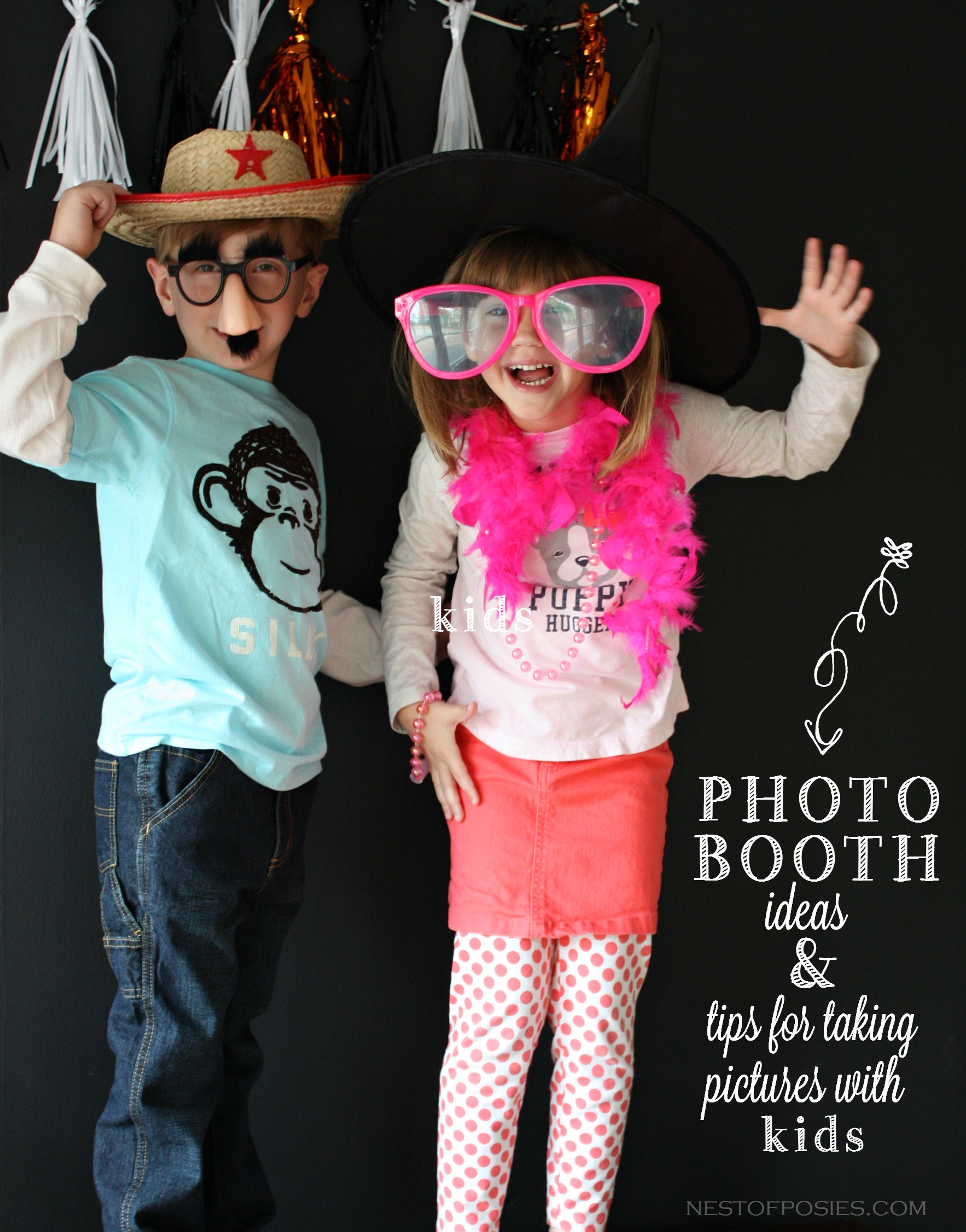 Photo Booth Ideas and tips on taking fun pictures with kids