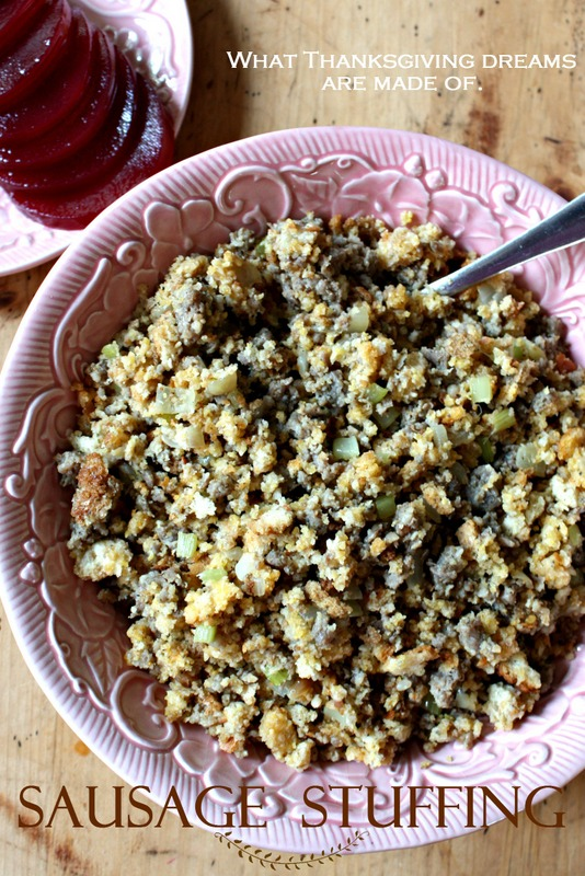 Sausage Stuffing.  What Thanksgiving dreams are made of.