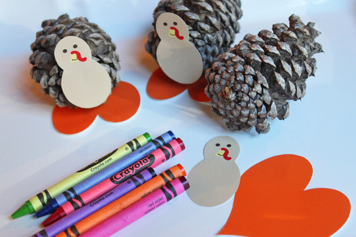 Make Pine cone Turkeys