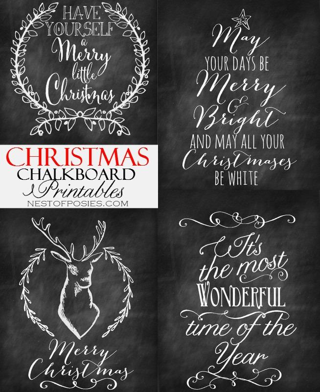 Christmas Chalkboard Art.Christmas Chalkboard Printables