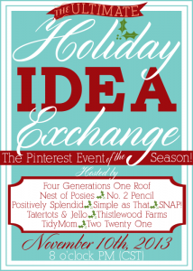 Announcing The Holiday Idea Exchange Pinterest Event