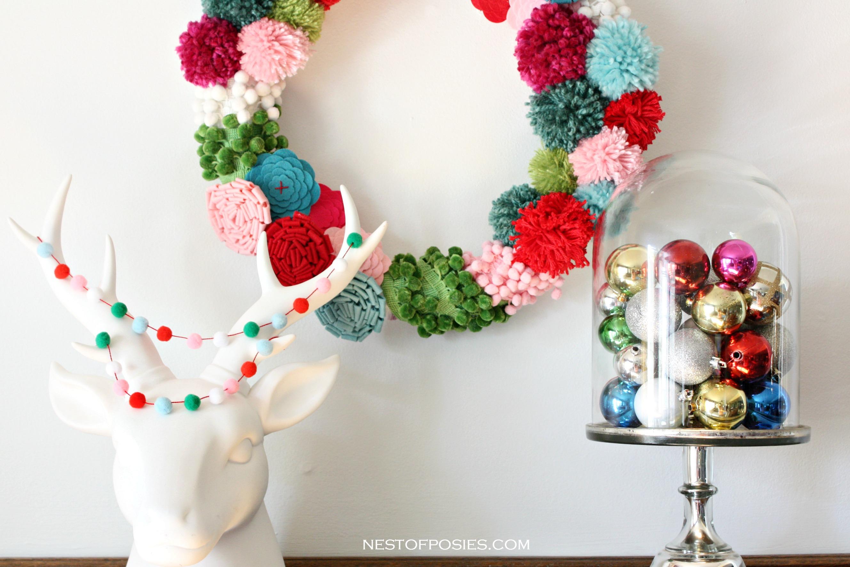 big photo frame ideas - Pom Pom and Posie Wreath