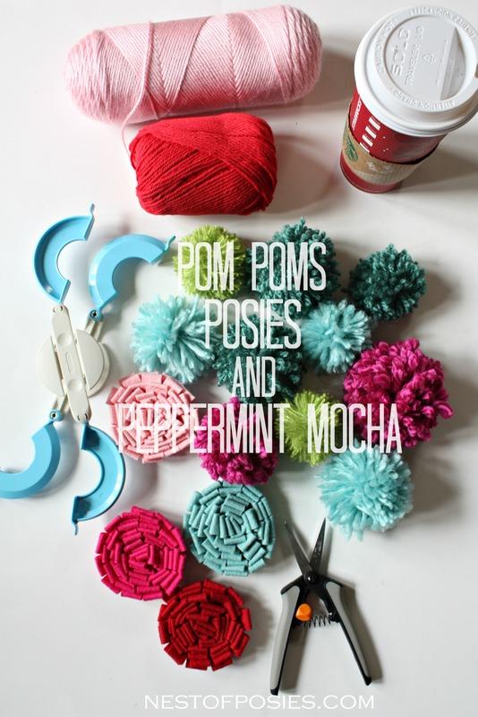 Pom Poms Posies and Peppermint Mocha