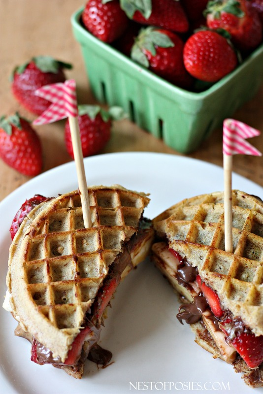 Neopolitan Grilled Waffle Sandwiches