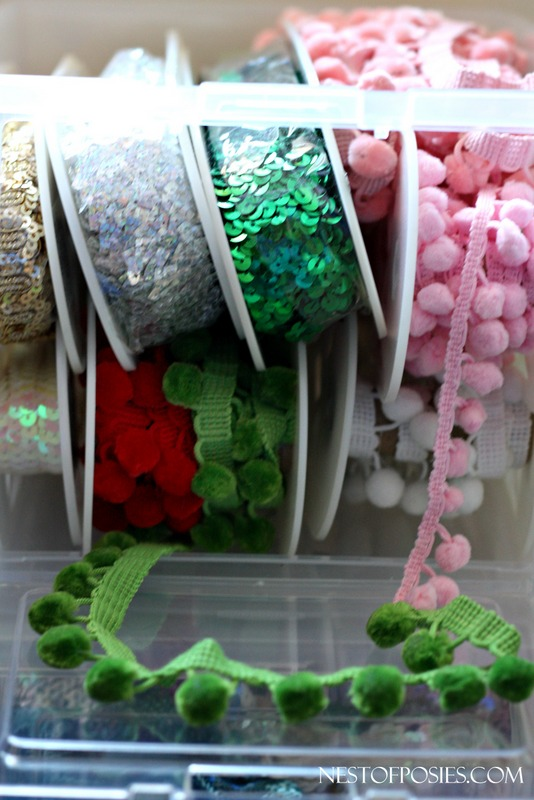 Trim and Notions Storage for your Craft Room