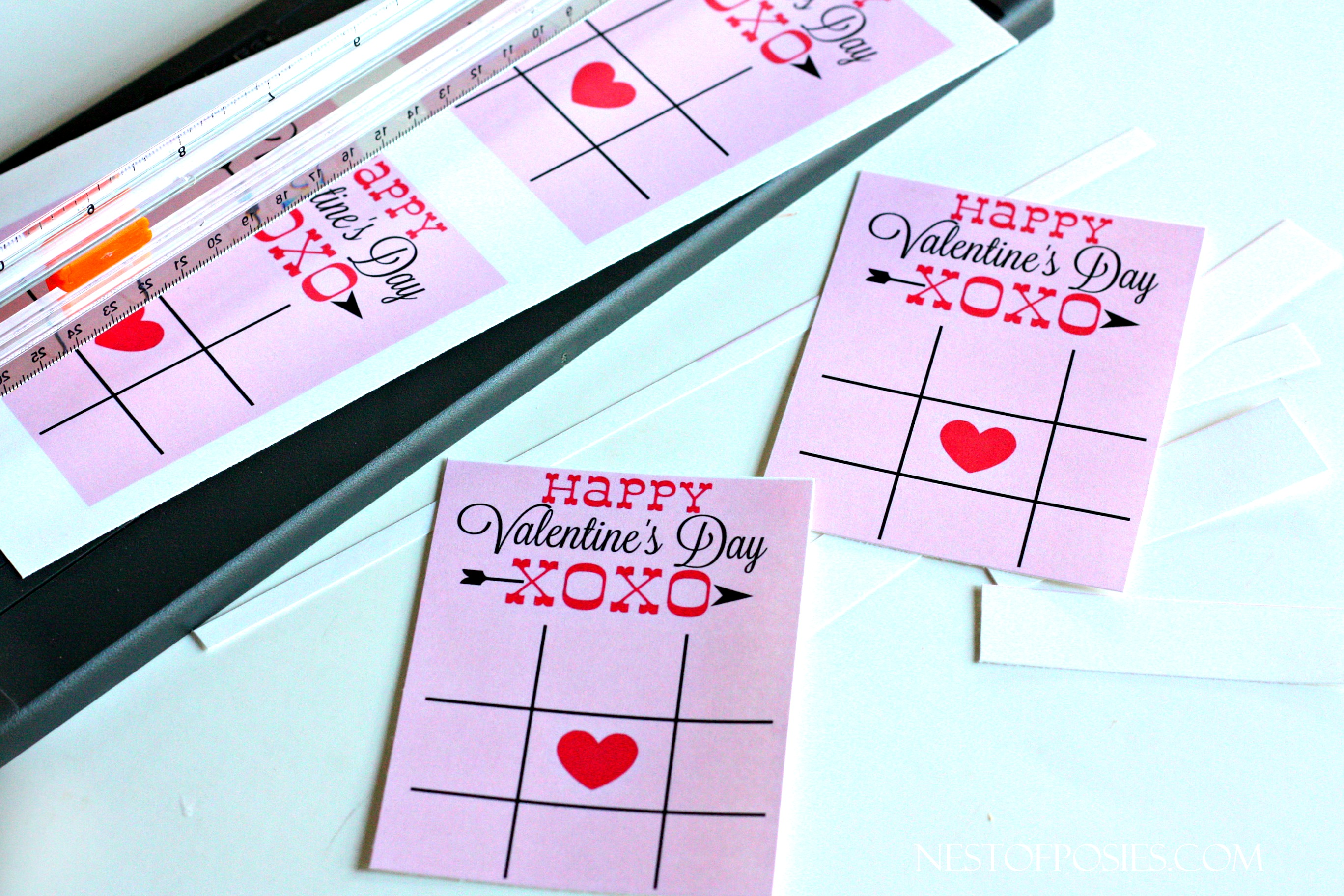 photograph relating to Tic Tac Toe Valentine Printable named XOXO Valentines Working day Playing cards