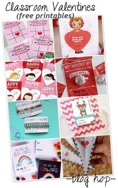 free Classroom Valentine printables and a blog hop