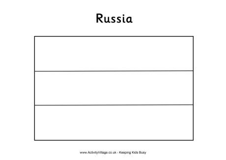 Russian Flag Coloring Page