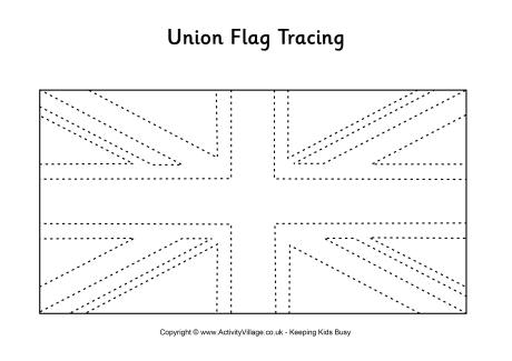 Union Jack Flag Coloring Page