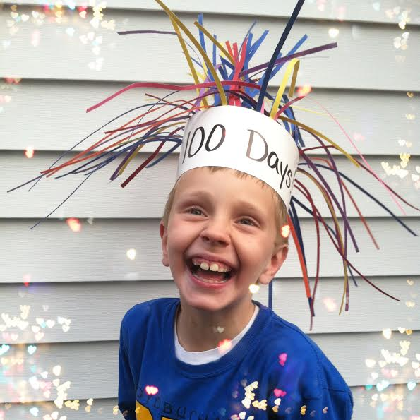 100 days of school party hat