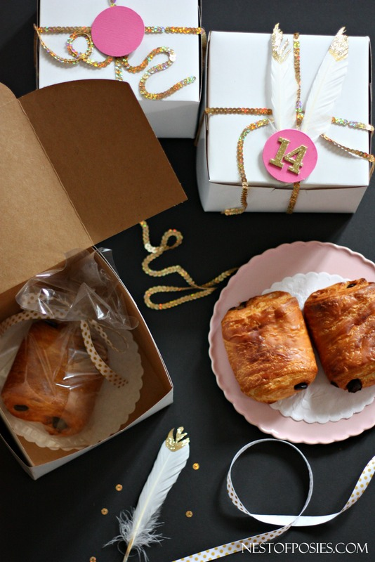 Gold and Pink Packaging Ideas for your Valentine Treats