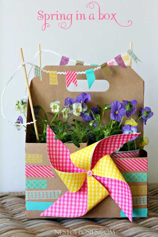 Mason jar easter basket spring in a box from a sonic drink carrier fun easter basket idea or teachers negle Image collections