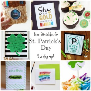 St. Patrick's Day Quote Printable Blog Hop