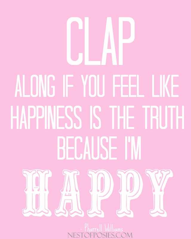 Because I'm Happy Song Free Printable