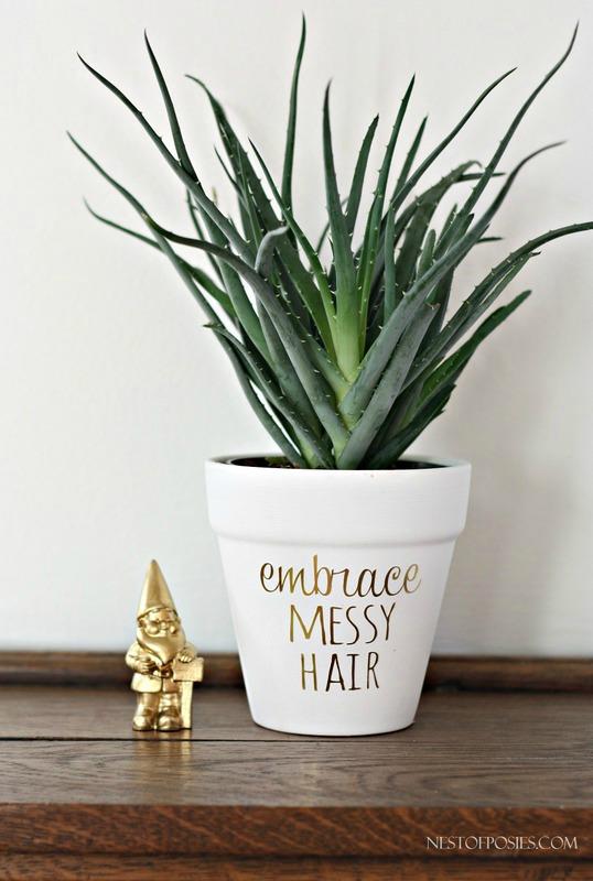 Embrace Messy Hair Plant Pot