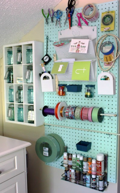 DIY Peg Board Storage for the Craft Room