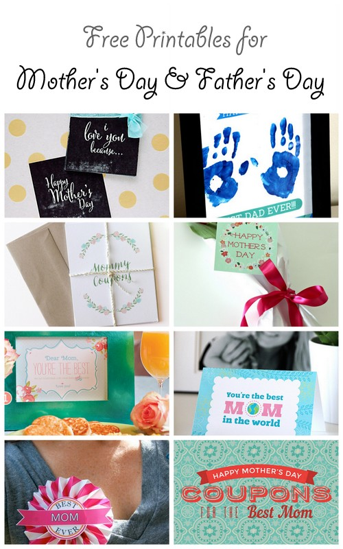 Free Printables for Mother's Day and for Father's Day   a blog hop